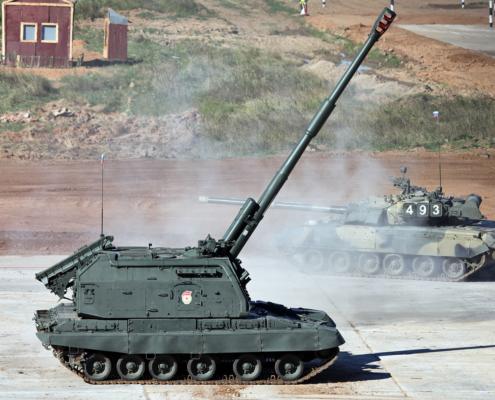 MSTA-S 2S19 telatykki (152mm)